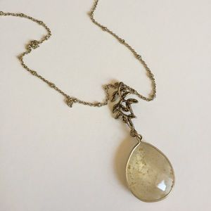 Charter Club Gold-tone teardrop Necklace
